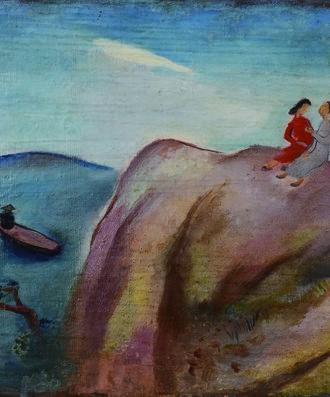 谭华牧  《风景》  布面油画  广东美术馆藏