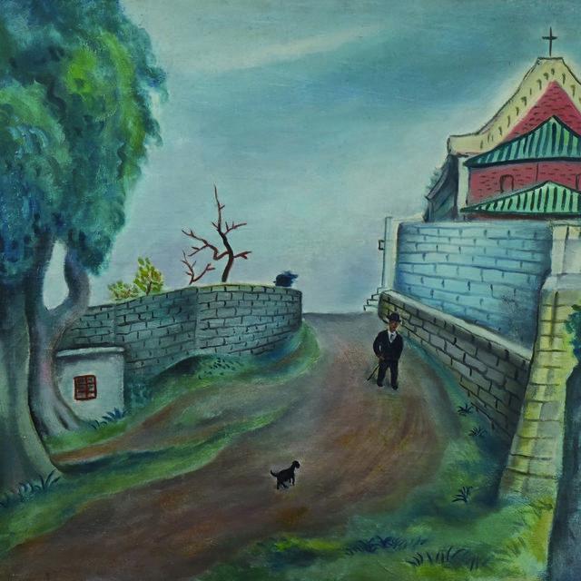 谭华牧  《街景》 布面油画  广东美术馆藏