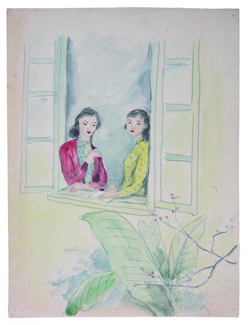 谭华牧  《窗景》  纸本水彩   私人藏