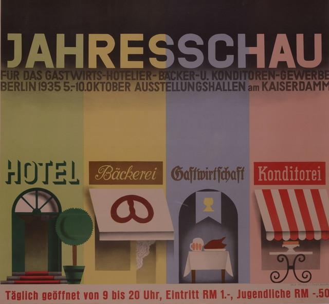 海报 《旅馆——酒店——面包——甜点业的年秀,柏林1935》