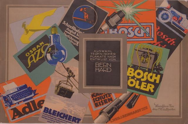 """广告板""""伯恩哈特设计的技术性海报选"""""""
