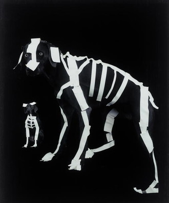 威廉·魏格曼(William Wegman)美国人,1943年   无题,宝丽来照片,22×30英寸,2005年