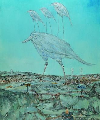 《远方之路》100cmx146cm 2008年 布面油画