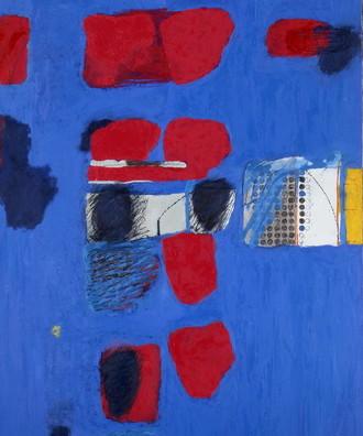 1995,午后红色的余白,布面油画,185×150 cm