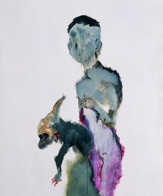 冲动的小狗,纸面油画,110×79cm,2008