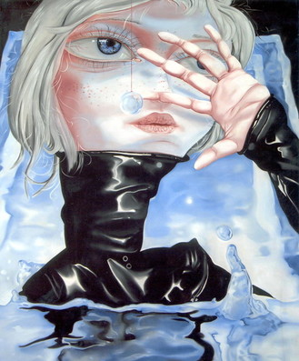 少年心气《光之池》铜奖 熊宇 布面油画