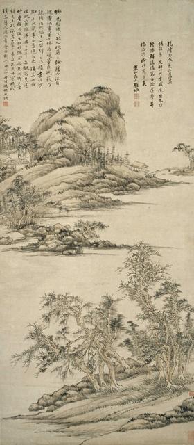 钱维城 仿古山水图 1766年 116.8×50.9cm